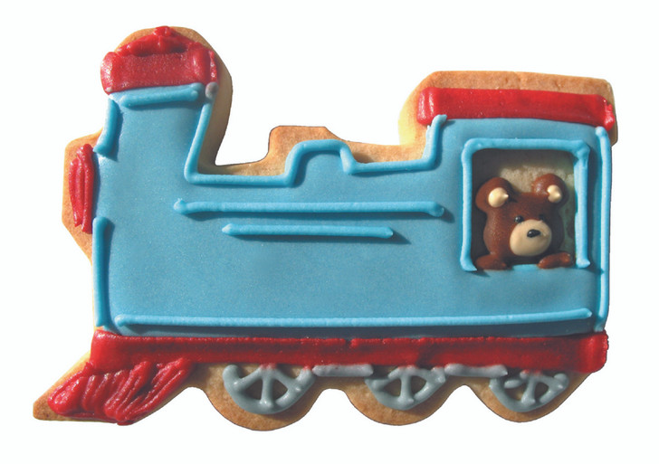 Train Engine Shaped Cutter Sample Cookie