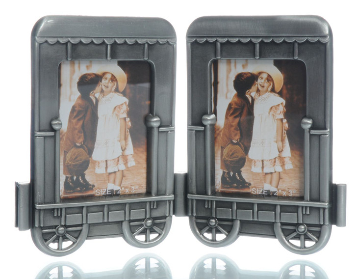 2 pc Cabin Car Add-On Train Picture Frame Standing