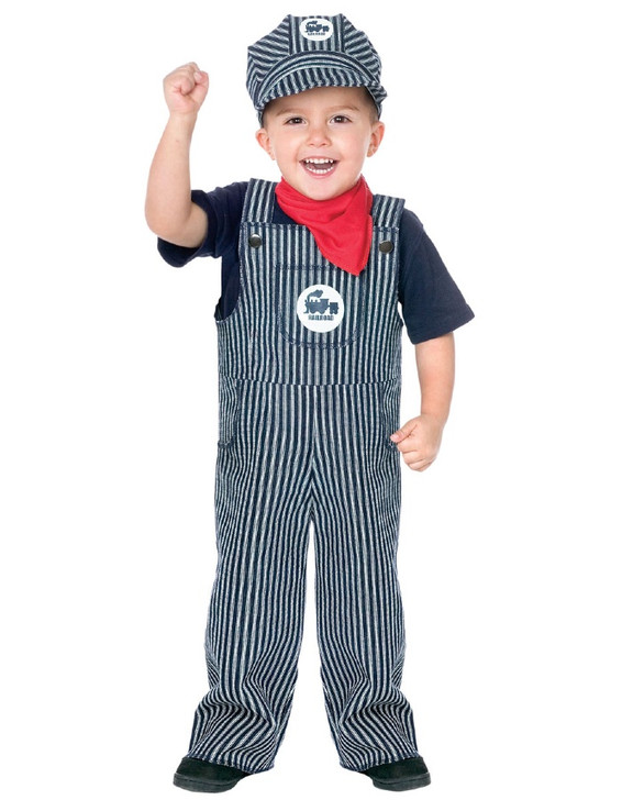 Railroad Engineer Toddler Costume (Small: 24M - 2T)