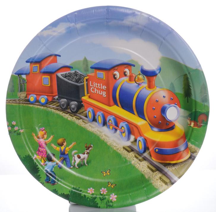 Little Chug Train Party Dinner Plates