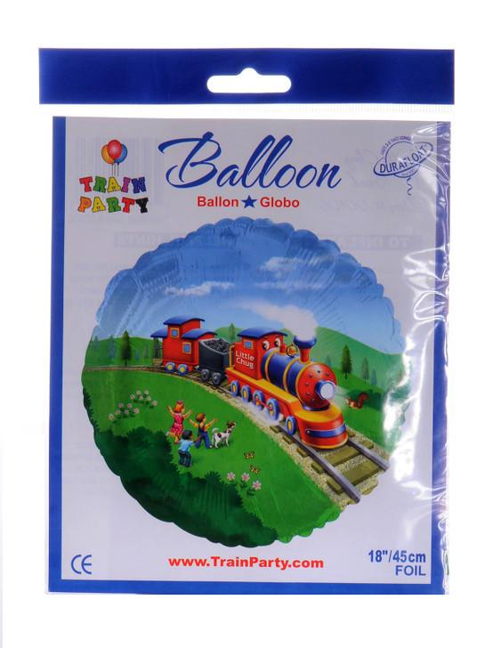 Little Chug Train Party Mylar Balloon