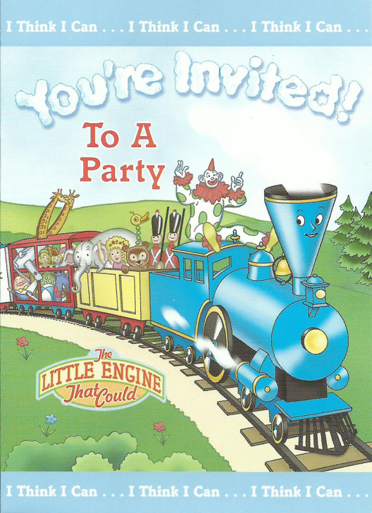 Little Engine That Could Party Invitation Cards