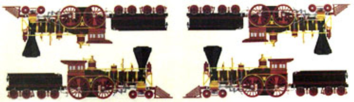 Sticker Strip Steam Engines