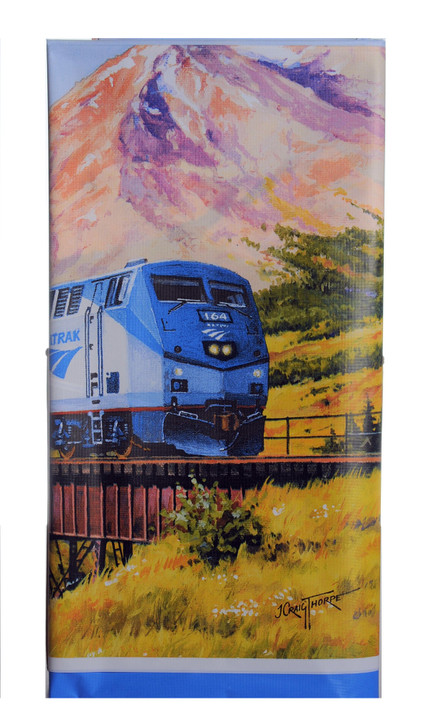 Amtrak Train Party Table Cover