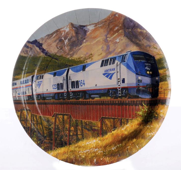 Amtrak Train Party Dinner Plates