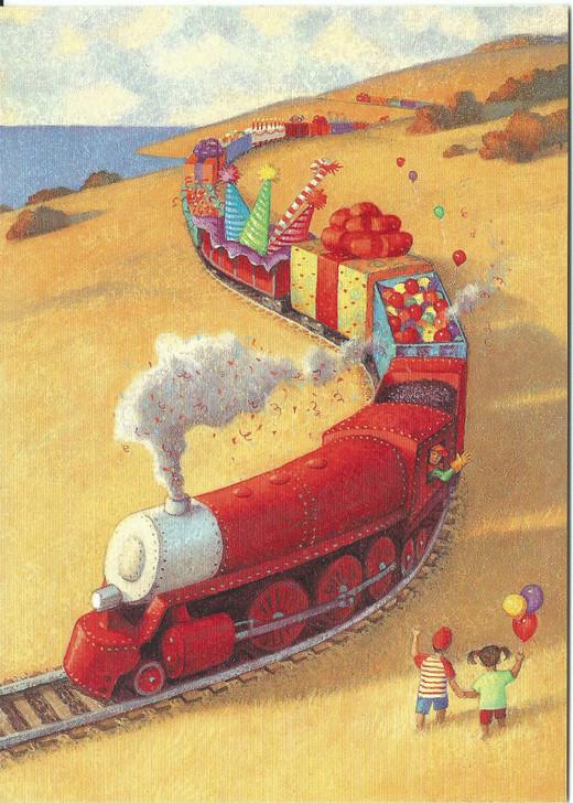 Train Around Bend Card