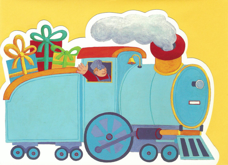 Birthday Train Die-Cut Card