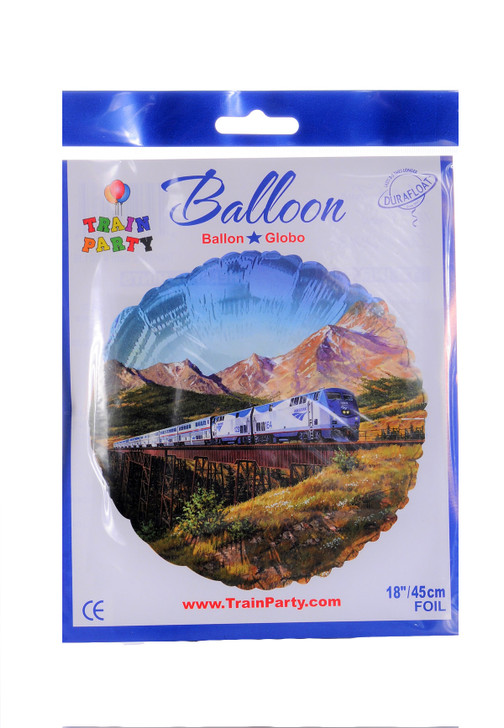 Amtrak Train Party  Mylar Balloon