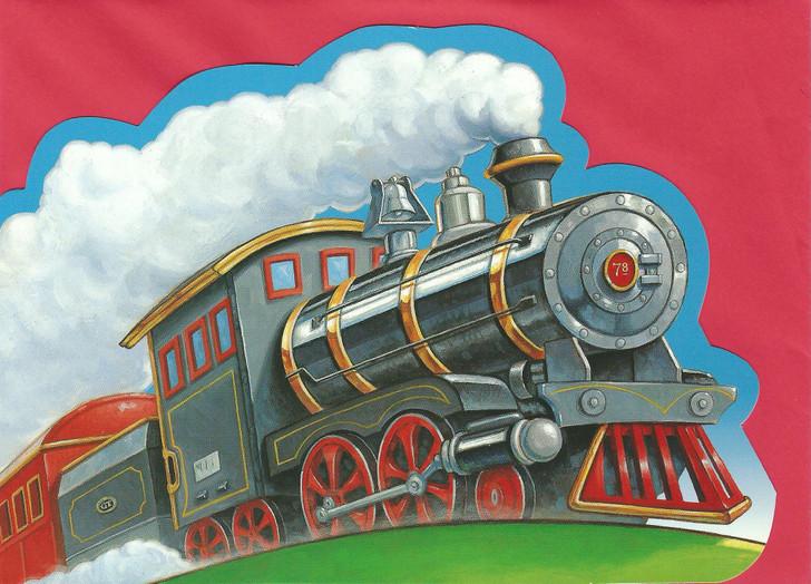 Die-Cut Steam Train Card