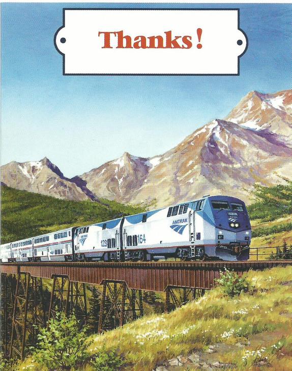 Amtrak Train Thank You Cards