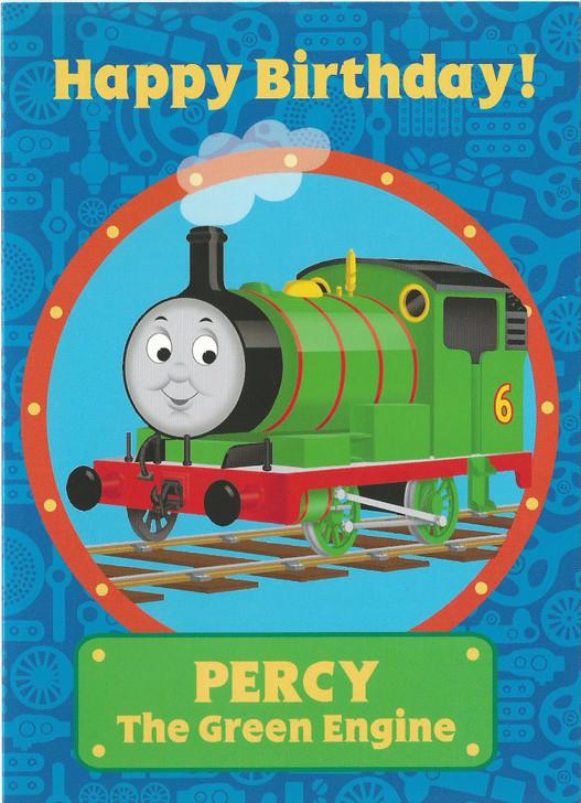 Percy - The Green Engine Birthday Card