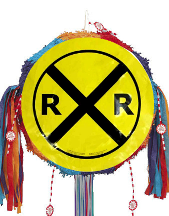 Railroad Crossing Pull Ribbon Pinata Kit