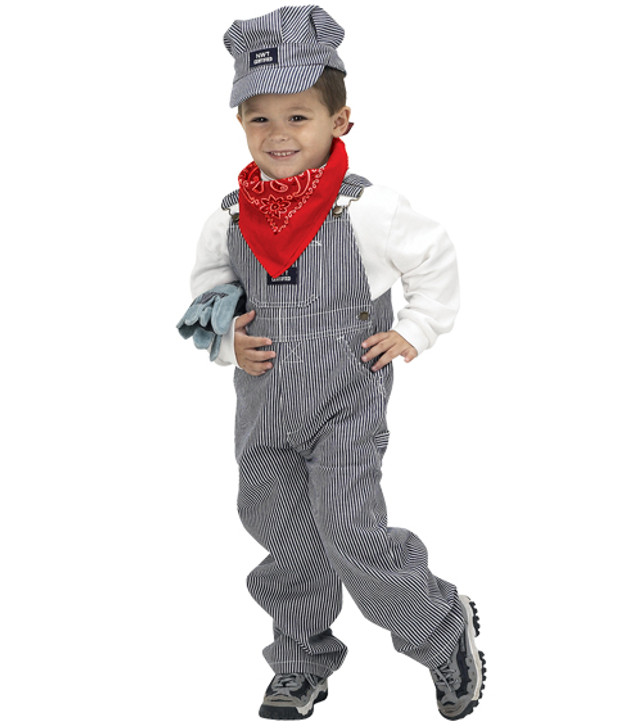 Jr. Train Engineer Costume Size 6-8 - Boy