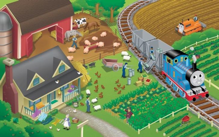 Thomas At The Farms Jigsaw Puzzle