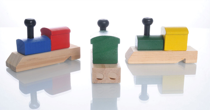 Locomotive Shaped Colorful Wooden Train Whistle (1 ct)