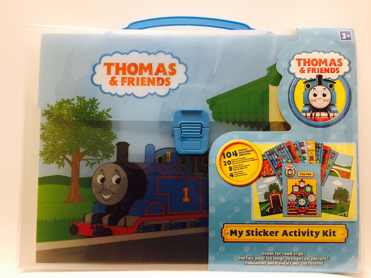 Thomas Train Sticker Activity Kit with Carrying Case Blue Handle