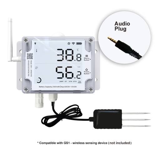 SOIL TEMPERATURE AND MOISTURE SENSOR for GS1-AETH1RS &  GS1-AL4G1RS