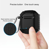 Apple AirPods 1/2 Case Black Wireless Version Armor Silicone Protective Box with Shockproof and Non-slip Texture | Free Delivery across Australia