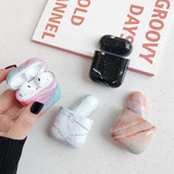 Apple AirPods 1/2 Case White Marble Pattern Wireless Earphones Charging Box Protective Cover with Scratchproof | Free Delivery across Australia
