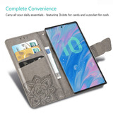 Samsung Galaxy Note 10+ Plus Case Pink Butterfly Flowers Embossed PU Leather Folio Cover with Card Slots, Kickstand  Free Delivery in Australia