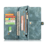 Samsung Galaxy S10 5G Case Blue PU Leather Folio Cover with Detachable Inner Case, Zipper Wallet, Card and Cash Slots