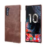 Coffee Elegant Genuine Leather Samsung Galaxy Note 10 Case | Samsung Galaxy Note 10 Genuine Leather Covers | Samsung Galaxy Note 10 Leather Cases | iCoverLover
