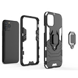 Panther PC + TPU Shockproof Protective Case , Magnetic Ring Holder for iPhone 11 Pro, Red