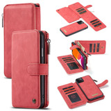 Detachable  Folio Leather Case , Card Slot & Holder & Zipper Wallet & Photo Frame For iPhone 11 Pro Max, Red