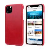 iPhone 11 Pro Max Case Red Elegant Genuine Leather Back Shell Cover   iPhone 11 Pro Max Genuine Leather Covers   iPhone 11 Pro Max Leather Cases   iCoverLover