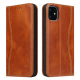 iPhone 11 Pro Max Case Brown Fierre Shann Genuine Cowhide Leather Cover