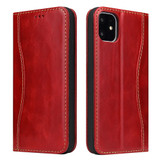 iPhone 11 Pro Max Case Red Fierre Shann Genuine Cowhide Leather Cover