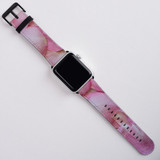 Apple Watch Band (44,42,40,38mm) Series 1, 2, 3 & 4 Vegan Leather Strap iWatch Petals