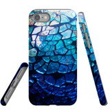 iPhone SE (2020) / 8 / 7 Case Armoured Tough Cover,Blue Mirror | iCoverLover