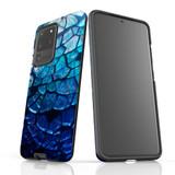 Samsung Galaxy S20 Ultra/S20+/S20, S10 5G, S10+/S10/S10e, S9+/S9, S8+/S8, S7e/S7 Case Protective Cover, Blue Mirror | iCoverLover Australia