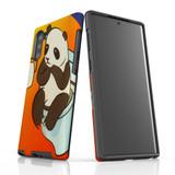 d-panda-toilet For Samsung Galaxy Note 10 Tough Case Black In Matte