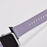 Apple Watch Band (44,42,40,38mm) Vegan Leather Strap Black Buckle, iWatch Lavender | iCoverLover