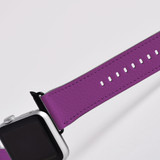 Apple Watch Band (44,42,40,38mm) Vegan Leather Strap Black Buckle, iWatch Purple | iCoverLover
