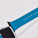 Apple Watch Band (44,42,40,38mm) Vegan Leather Strap Black Buckle, iWatch Turquoise | iCoverLover