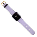 Apple Watch Band (44,42,40,38mm) Vegan Leather Strap Gold Buckle, iWatch Lavender | iCoverLover