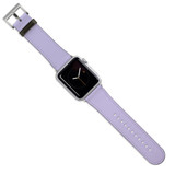 Apple Watch Band (44,42,40,38mm) Vegan Leather Strap Silver Buckle, iWatch Lavender | iCoverLover