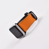 Apple Watch Band (44,42,40,38mm) Vegan Leather Strap Black Buckle, iWatch Orange | iCoverLover