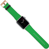 Apple Watch Band (44,42,40,38mm) Vegan Leather Strap Rose Gold Buckle, iWatch Green | iCoverLover