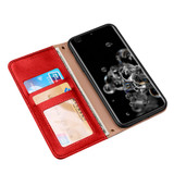 Samsung Galaxy S20/20+ Plus/20 Ultra 4G 5G Case, Genuine Leather Wallet in Red | iCoverLover Australia