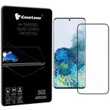 Black Samsung Galaxy S20+ Plus Full 3D Tempered Glass Screen Protector   iCoverLover