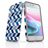 For iPhone SE (2020) / 8 / 7 Protective Case, Zigzag Chevron Pattern   iCoverLover