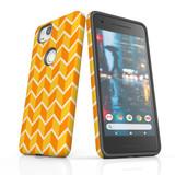 For Google Pixel 2 Protective Case, Zigzag Yellow Orange  Pattern | iCoverLover Australia