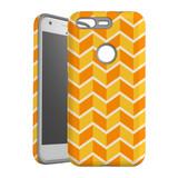 For Google Pixel 1 Protective Case, Zigzag Yellow Orange  Pattern | iCoverLover Australia
