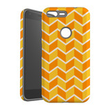 For Google Pixel 1 XL Protective Case, Zigzag Yellow Orange  Pattern | iCoverLover Australia