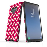 For Samsung Galaxy Note 9 Protective Case, Zigzag Magenta Pattern   iCoverLover Australia