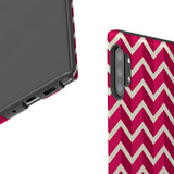 For Samsung Galaxy Note 10 Plus Protective Case, Zigzag Magenta Pattern   iCoverLover Australia